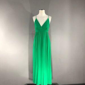 Kelly Green Maxi Dress (A-1)